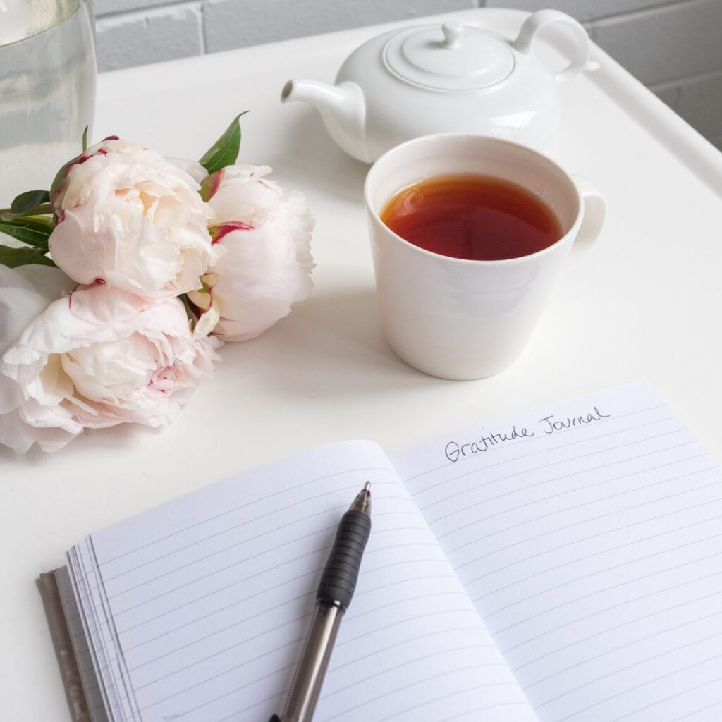 Gratitude journal to help aid holiday stress